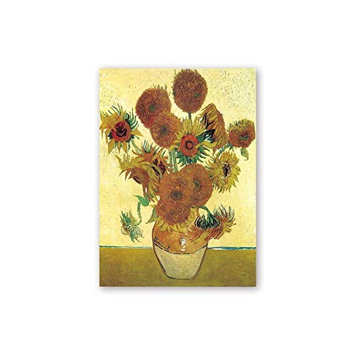 Van Gogh Oil Painting Sunflower Almond Abstract A4 A3 A2 Canvas Art Print Poster Picture Wall House Decoration Mural (Color : 5, Size (Inch) : A5 15x20cm NO Frame)