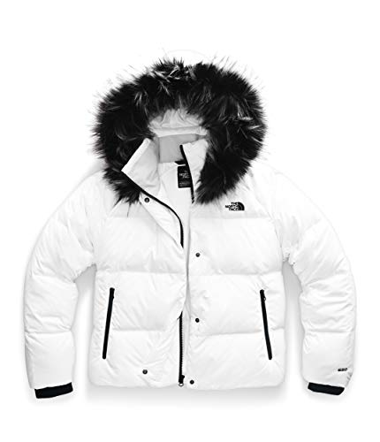White Puffer Down Cropped Jacket with Hood