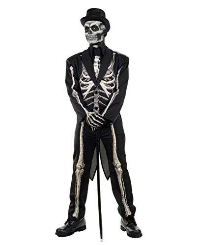Horror-Shop Skelett Anzug Kostüm Frack für Halloween One Size