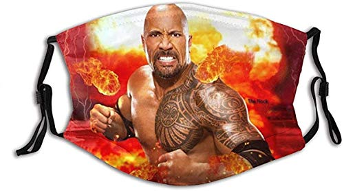 Unisex Nose Mouth Anti Dust Protection WWE The Rock Adjustable Facial Decorations Face bandanas