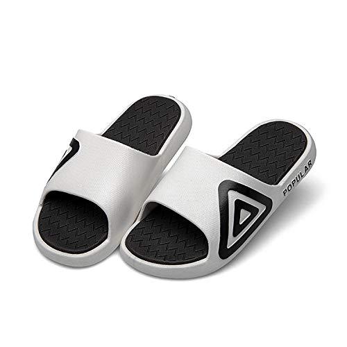 LLGG Sandalias de Zapatillas de Masaje,Pareja Deportes Zapatillas Hembra, inyección de Fondo Grueso-Blanco_40-41,Zapatillas de Playa de Fondo Suave