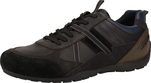 Geox Hombre Zapatos con Cordones RAVEX,de Caballero Zapatos Deportivos,Calzado bajo,Calzado de Calle,Deportivo,Removable Insole,Schwarz,45 EU/10.5 UK