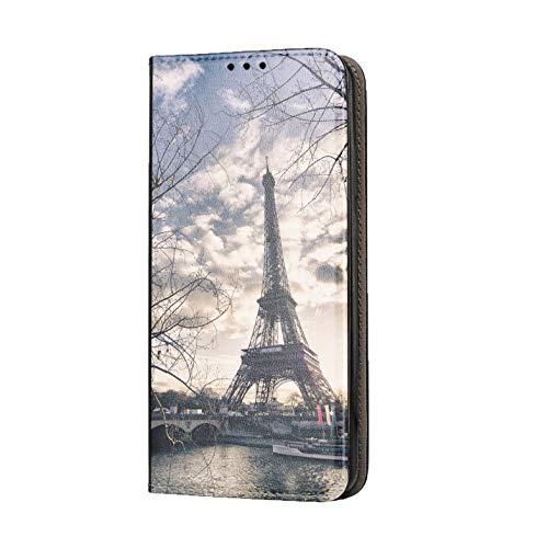 KX-Mobile Hülle für Samsung S10 Handyhülle Motiv 1452 Eifelturm Paris Frankreich Seine Premium Smart aus Kunstleder einseitig Bedruckt HandyCover Handyhülle für Samsung Galaxy S10 Hülle