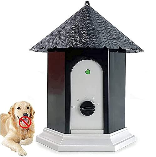 LuckyDarling Outdoor Bark Control Device, Ultrasonic Stop Barking Device, Sonic Bark Deterrents Dog Silencer Bark Box for Small Medium Large Dogs in...