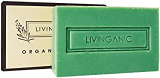 Livinganic Pure Essential 100% All Natural Organic Handmade Soap Make with Coconut Oil, Lavender Oil, Eucalyptus Oil, Hydration Anti-inflammation Anti-aging Face & Body Soap