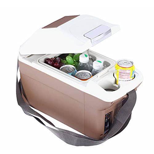 YAHAO Refrigerador Portátil para Coche,Mini Refrigerador de 9 L para El Hogar del Coche, Refrigeradores DC12 / 24 V / 220 V, Congelador, Calentador, Mantener El Calor Fresco