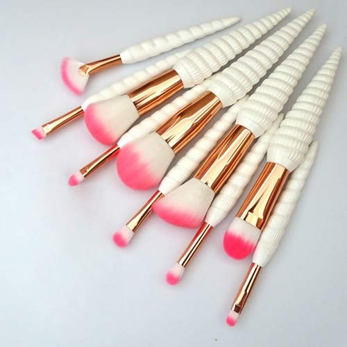Ensemble de pinceaux de maquillage de beauté, 11 pièces d'outil de pinceau de maquillage kabuki de cosmétiques de fondation de coquille de conque