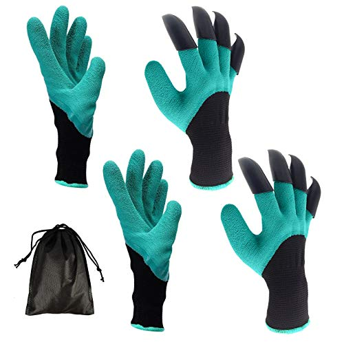 2PCS Garden Genie Gloves with Claws for Digging Planting{Expires 31/8}[Coupon: 30CS6ECT](30% off) - $4.61