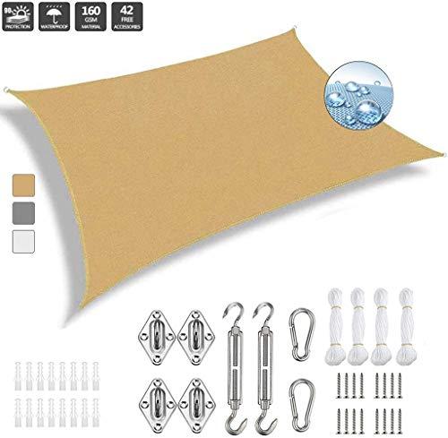 potente para casa Toldo Vela Rectangular GOUDU 6 × 6.5m Toldo IKEA Accesorios impermeables para instalación al aire libre Todo…
