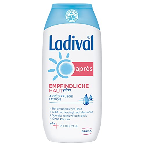 Ladival Empfindliche Haut Plus Aprés Lotion - Parfümfreie After Sun Lotion - hautberuhigend, feuchtigkeitsspendend und kühlend - ohne Farb- und Konservierungsstoffe, 200 ml