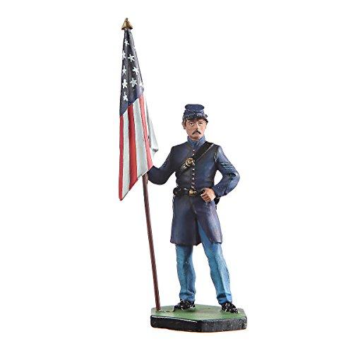 Tin Soldier USA Civil war Northerners Standard Bearer Hand Painted Metal Sculpture Miniature Figurine 54mm #CW02