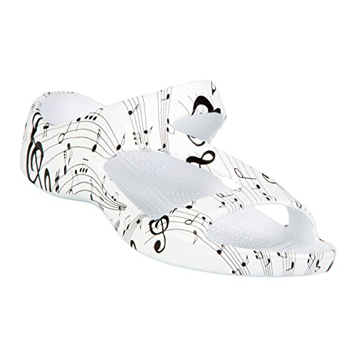 DAWGS Womens' Z Sandals Musical Notes Size 11
