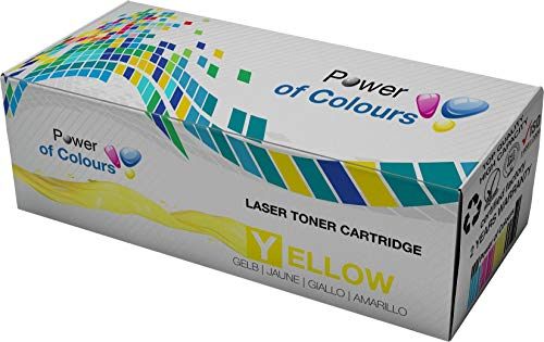 Yellow (8,000 Yield) Compatible Toner Cartridge for DELL 3115CN, 3115, 3110CN, 3110 Replacement for DELL 3110 by POWER OF COLOURS