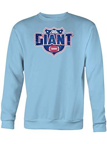 Shirt Happenz True Giant American Football New York Super Bowl Sweatshirt Pullover Pulli, Größe:XXL, Farbe:Hellblau
