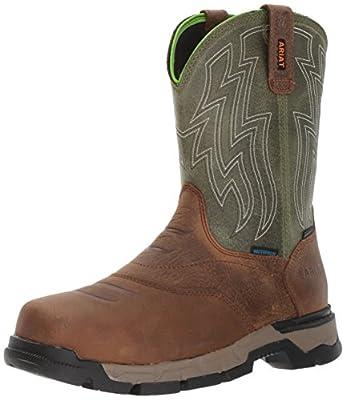Ariat Men's Rebar Flex Western Waterproof Composite Toe Work Boot, Rye Brown, 5.7