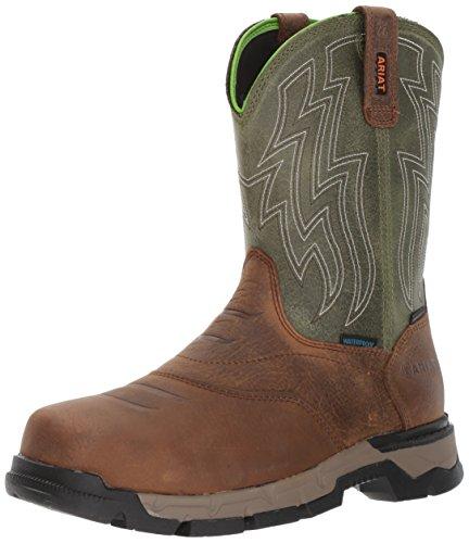 ARIAT mens Rebar Western H2o Composite Toe Work Boot, Rye Brown, 9.5 US