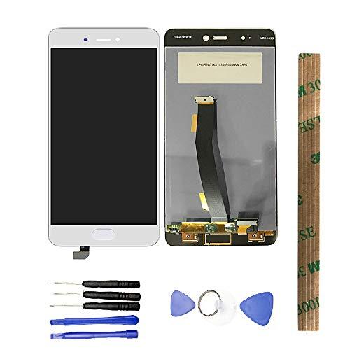 JayTong - visualización LCD y digitalizador de visualización táctil de Repuesto para Xiaomi Mi5S Mi 5S Without Fingerprint Blanco