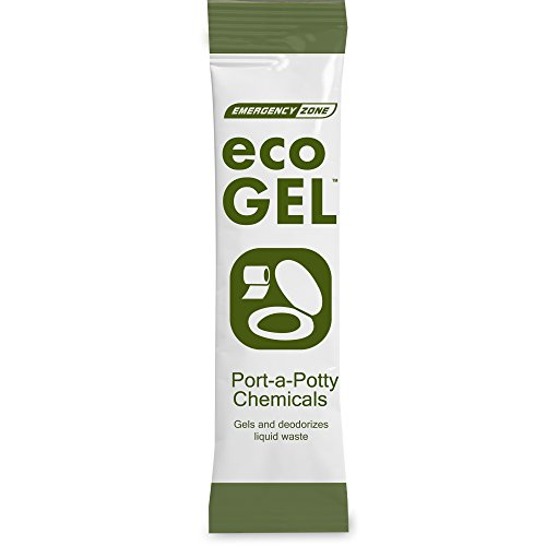 Eco Gel Port-A-Potty and Emergency Toilet Chemicals, Eco-Friendly Liquid Waste Gelling and Deodorizing Powder. Single Pack