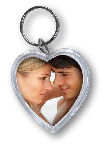 Zep hart acryl foto sleutelhanger, 5 x 1 x 3 cm