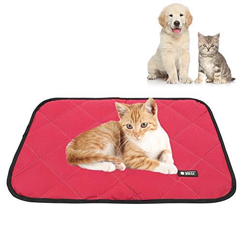 Oxford Paño Portátil Portátil Suelo Impermeable Mascota Matada Terreno para Dormir Accesorios para Almohadillas para Gatos Rose Red M 0321