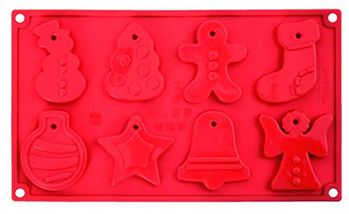 Pavonidea FR091RSAS Stampo in Silicone Multiporzione Dolcetti 8 Impronte, Rosso