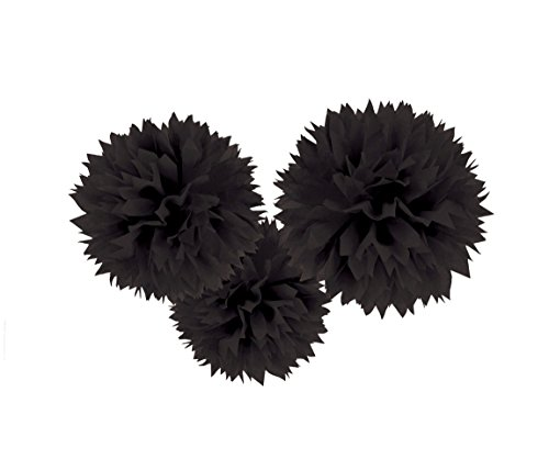 Amscan International 18055–10–55 à suspendre Fluffy Set de décoration, Noir