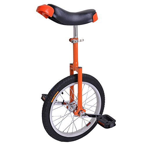 imusicat 16 Inch Unicycles for Adults Kids - 【𝐒𝐭𝐫𝐨𝐧𝐠 𝐌𝐚𝐧𝐠𝐚𝐧𝐞𝐬𝐞 𝐒𝐭𝐞𝐞𝐥 𝐅𝐫𝐚𝐦𝐞】, Unicycles, Uni Cycle, One Wheel Bike for Adults Kids Men Teens Boy Rider, Mountain Outdoor (Red)