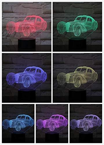 Nachtlampje Retro Impliciete Auto-aanraking Klein Nachtlampje 7 Kleuren Touch Optische Foto Tafel Decoratie Lamp, Geschikt Voor Slaapkamer Bar Sfeerlamp