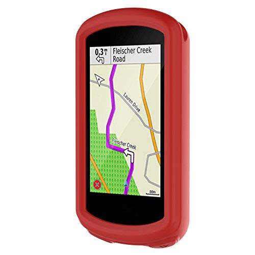 Bemodst - Custodia protettiva in silicone per Garmin Garmin edge1030 plus/1030 GPS, colore: Rosso