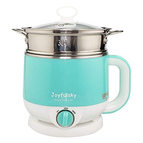 Joyfulsky 1.5L Electric Hot Pot with Steamer 304 Stainless Steel Pot Student Pot Mini Cooker Multi-function Pot Noodles Cooker Dumpling Cooker...