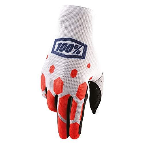 100% Celium Legacy Handschuhe, Größe M, rot/weiß by Inconnu