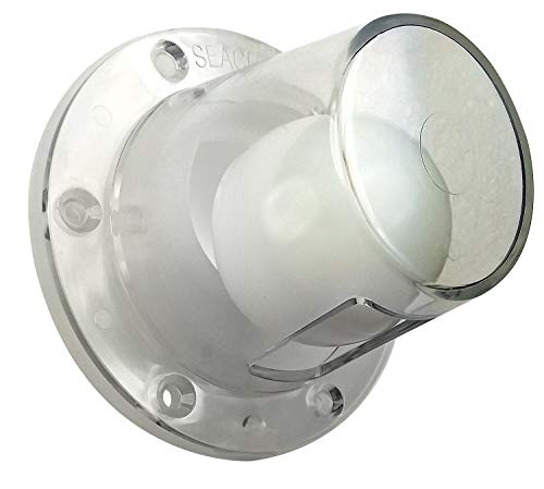 """SEACHOICE 18271 Boat Self-Bailing Cockpit Mounted 2-7/8-Inch Scupper Valve Kit, Clear, Small - Fits 3/4""""-1-1/2"""" Openings"""