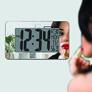 Marathon Watch Company Atomic Self-Setting/Adjusting Wall Clock, Mirror