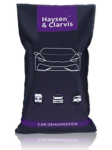 Haysen & Clarvis Absorbeur d Humidité Voiture deshumidificateur Dégivreur Auto Réutilisable, Absorbeur d'Humidité en Gel de Silice, Désodorisant Voiture, Empêche Buée (1 kg)