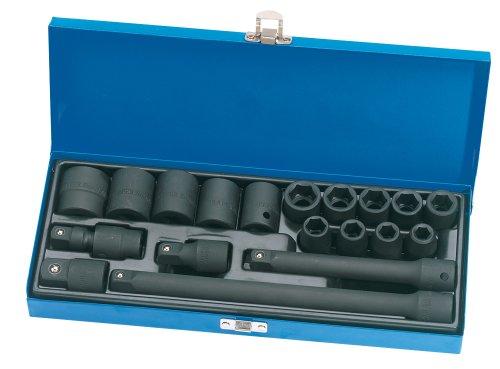 Draper 54651 Expert Multi-Drive - Maletín con llaves de vaso de impacto (1/2', 19...