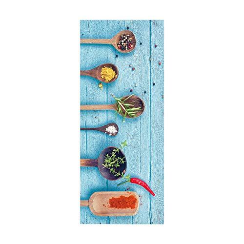 MACHINE BOY Türaufkleber Küche Gewürze Türtapete Aufkleber Größe 90 * 200cm