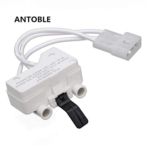 ANTOBLE Dryer Door Switch for 3406109 3406107 Whirlpool, Kenmore, Sears, Maytag, Roper, Estate