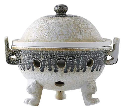 Pentola di terracotta, per cucinare casseruole di terracotta con coperchio, casseruole calde giapponesi resistenti al calore, casseruole rotonde in ceramica, cuociriso di terracotta, pentole per stuf