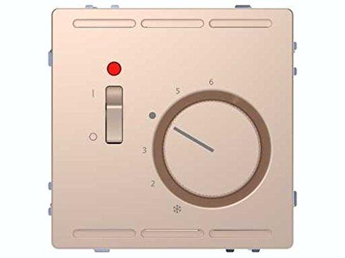 Schneider Electric MTN5760-6051 Termostato de Temperatura con Interruptor de La Gama D-Life, Champagne