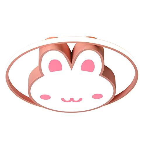 MG REAL LED-Deckenleuchten Kinderzimmer Deckenleuchten Mädchen Prinzessin Raum Cartoon-Kaninchen Schlafzimmerlicht Baby Raumlicht Netto-Licht Deckenleuchte rot,A