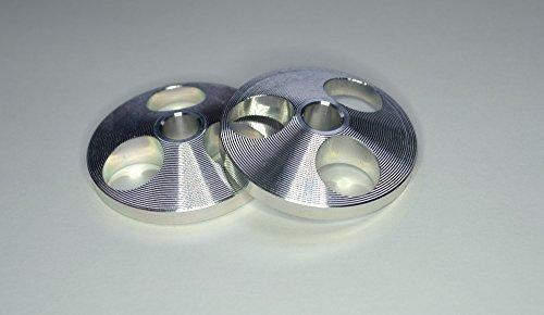 2 x Aluminium spindel middenadapter voor 7