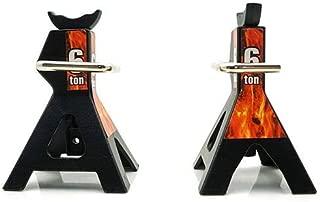 Yeah Racing 1/10 RC Rock Crawler Accessory Height adjustable 6 Ton Jack Black 2pcs-YA-0374BK