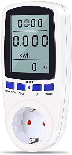 Misuratore di Potenza Contatore del Consumo di Corrente, Misuratore dei Costi Energetici con 7 Modalità e Display LCD, Misuratore Energia Elettrica per Grandi Elettrodomestici