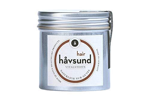 håvsund hair bei Haarausfall in Schwangerschaft und Stillzeit - Vegan - Vitamin B6, B12, Biotin, Zink und Folsäure - Monatspackung 60 Kapseln