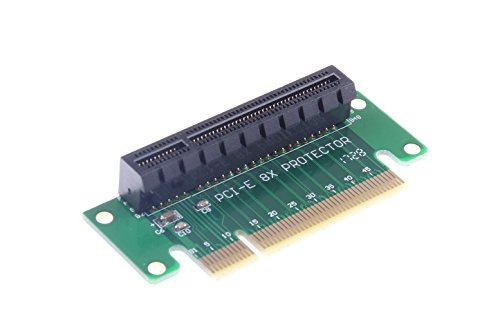 KNACRO PCI Express PCI-e 8X Riser Extender Card Adapter for 1U 2U Turn Left 90 Degrees