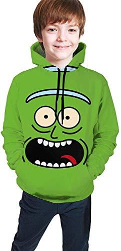 ANTOUZHE Kapuzenpullover Jungen Mädchen Kid's/Youth Hoodies Ri-ck and Mo-RTY 3D Print Unisex Pullover Hooded Sweatshirts