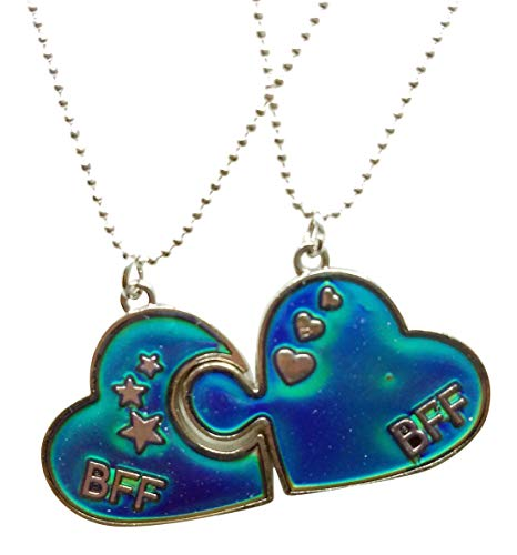 Cool Jewels® Mood Best Friend Heart Puzzle Necklaces for 2
