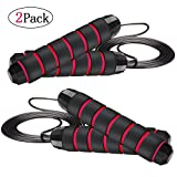 OWS 2 Pack Speed Jump Rope, Adjustable Skipping Rope Cable Tangle-Free with 2 Carrying Bags for...