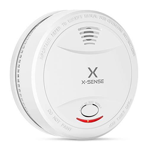 X-Sense Rauchmelder SD12| TÜV und DIN EN 14604 geprüfter Rauchwarnmelder mit 10 Jahren Batterielaufzeit und intelligentem Feueralarm, fotoelektrischem Sensor | Verbesserte Ausführung, 1 Stück