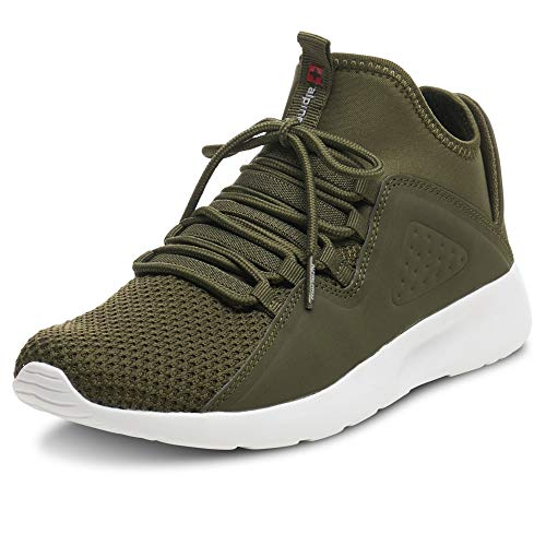 Alpine Swiss Mens Fashion Sneakers Lightweight Knit Tennis Shoes Olive 10 M US